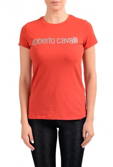 Roberto Cavalli Sport Women's Red Graphic Print Crewneck T-Shirt