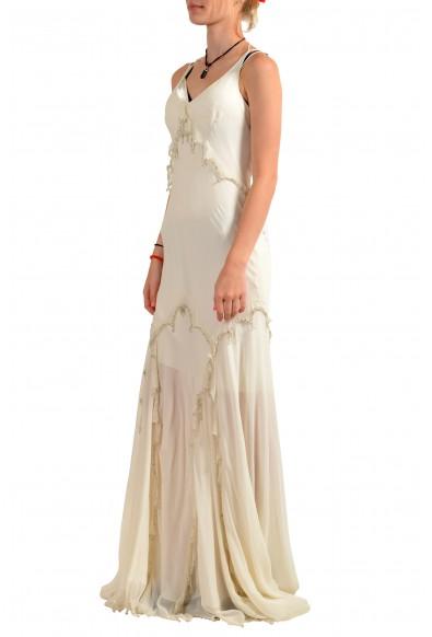 Roberto Cavalli Women's Ivory 100% Silk Embellished Evening Dress: Picture 2