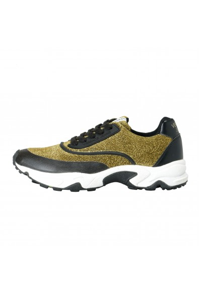 Versace Jeans Women's Gold & Black Mesh Fashion Sneakers Shoes: Picture 2