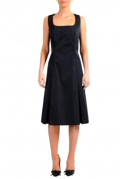 "Hugo Boss Women's ""Dafa"" Black Sleeveless Fit & Flare Dress"