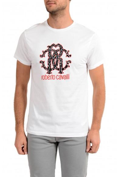 """Roberto Cavalli """"Beachwear"""" Men's White Graphic Print T-Shirt"""