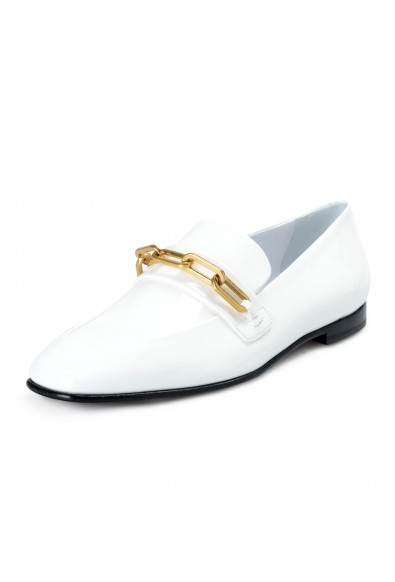 Burberry London Women's CHILLCOT White Patent Leather Loafers Shoes