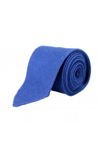 Hugo Boss Men's Blue Wool Silk Linen Tie