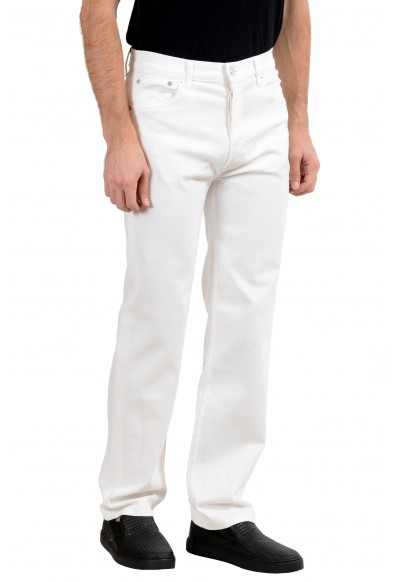 Burberry Men's White Stretch Straight Leg Jeans: Picture 2