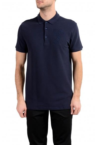 Versace Collection Men's Navy Blue Short Sleeve Polo Shirt