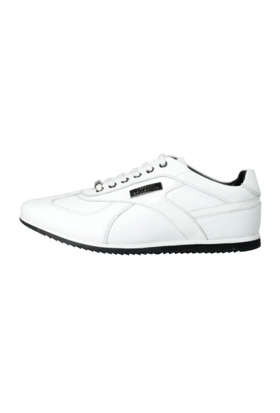 Versace Collection Men's White Leather Fashion Sneakers Shoes: Picture 2