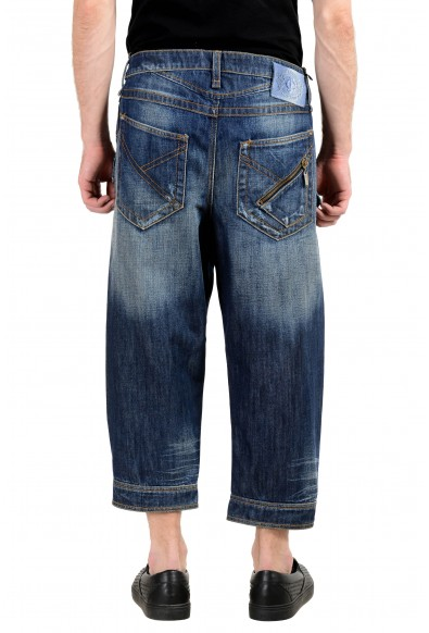 Just Cavalli Men's Blue Ripped Cropped Jeans: Picture 2