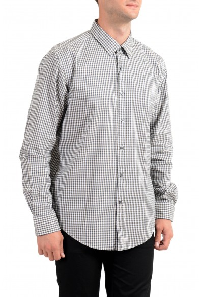 "Hugo Boss Men's ""Ronni_4"" Slim Fit Plaid Long Sleeve Casual Shirt"