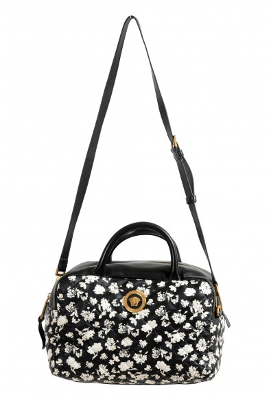 Versace Women's Black Midnight Bloom Large Quilted Leather Shoulder Bag: Picture 2