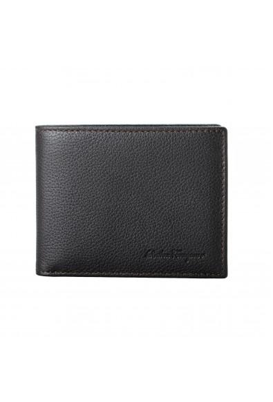 Salvatore Ferragamo Men's Dark Brown 100% Pebbled Leather Bifold Wallet
