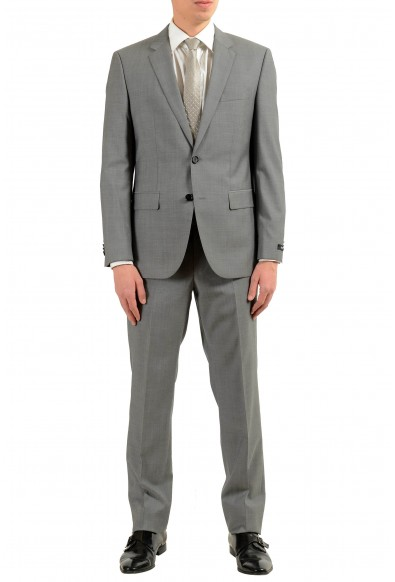 """Hugo Boss """"TheGrand1/Central1US"""" Men's 100% Wool Gray Two Button Suit"""