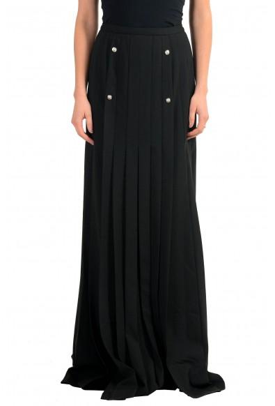 Versace Versus Wool Black Women's Maxi Skirt
