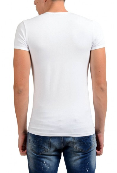 Versace Collection Men's White Stretch V-Neck Short Sleeve T-Shirt : Picture 2