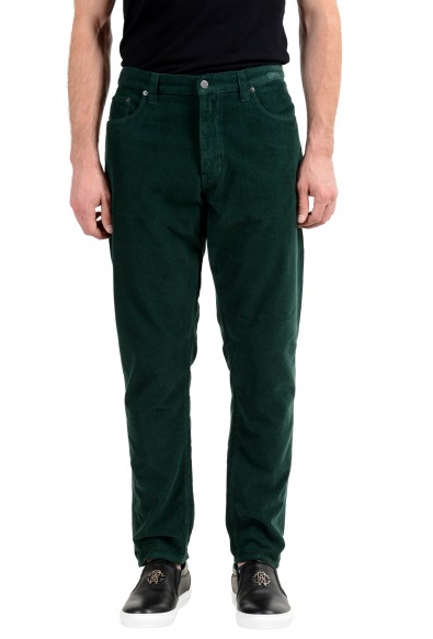 Prada Men's Green Corduroy Straight Leg Jeans