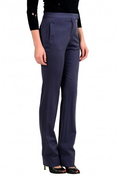 Maison Margiela 4 Women's Wool Fitted Shape Purple Dress Pants : Picture 2