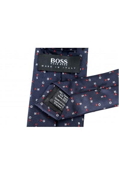 Hugo Boss Men's Multi-Color Logo Print 100% Silk Tie: Picture 2