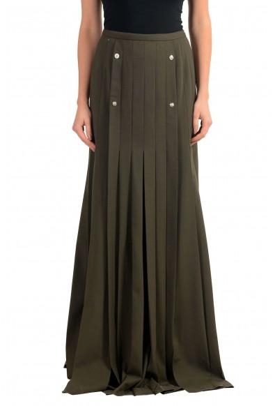 Versace Versus Wool Green Women's Maxi Skirt
