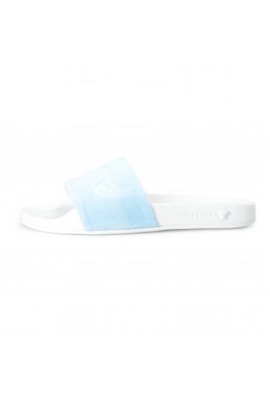 """Versace Women's Blue """"Versace"""" Flip Flops Shoes: Picture 2"""
