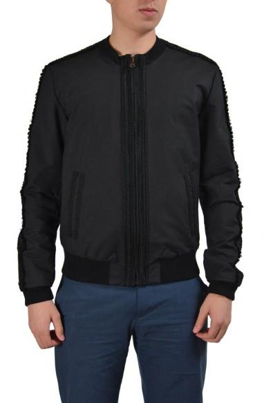 Dolce & Gabbana Black Full Zip Men's Basic Jacket