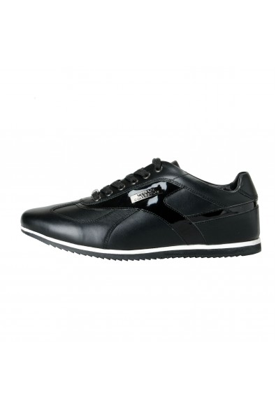 Versace Collection Men's Black Leather Fashion Sneakers Shoes: Picture 2