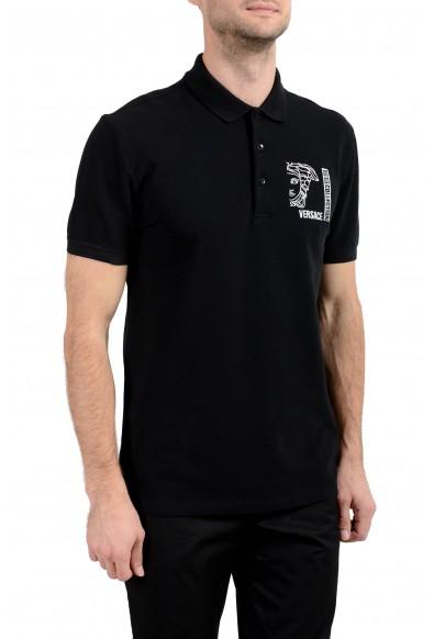 Versace Collection Men's Black Logo Short Sleeve Polo Shirt: Picture 2