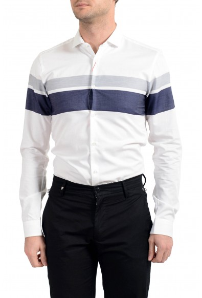 "Hugo Boss Men's ""Erondo"" Striped Extra Slim Fit Long Sleeve Dress Shirt: Picture 2"