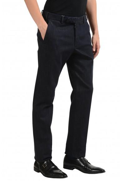 Armani Collezioni Men's Dark Gray Denim Dress Pants: Picture 2