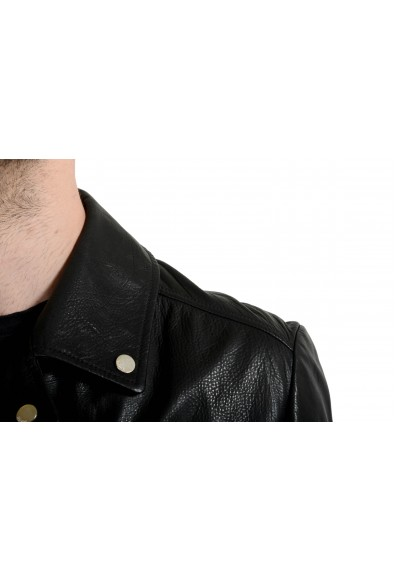 """Hugo Boss """"Lovell"""" Men's 100% Leather Black Double Breasted Jacket: Picture 2"""