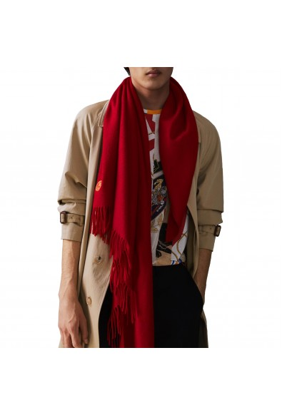 Burberry London Unisex Bright Red 100% Cashmere Scarf Shawl: Picture 2