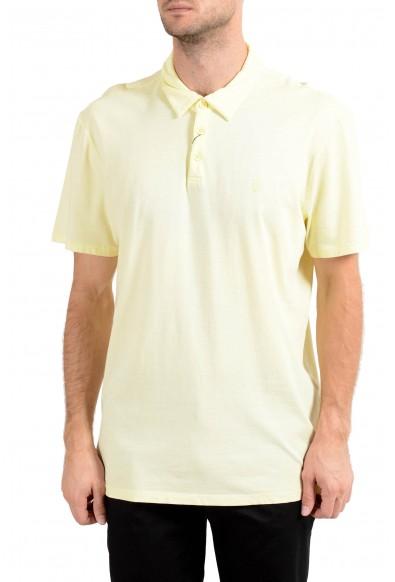 John Varvatos Star USA Men's Yellow Short Sleeve Polo Shirt