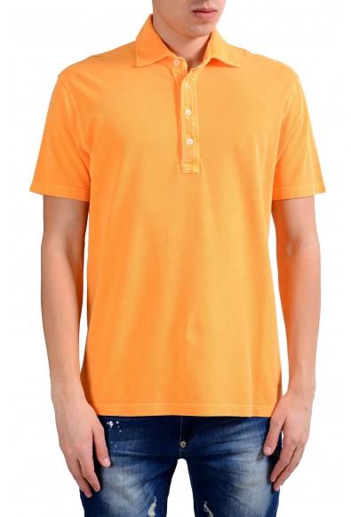 Malo Men's Orange Short Sleeve Polo Shirt