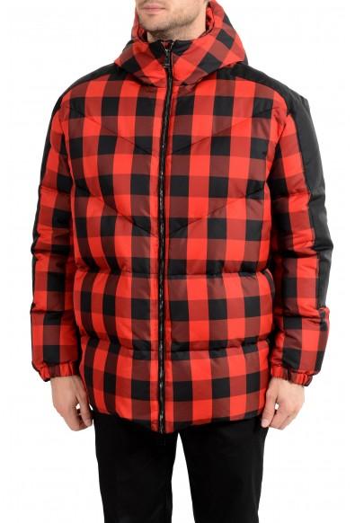 Versace Men's Multi-Color Hooded Plaid Down Parka Jacket
