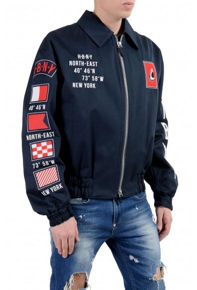 """Hugo Boss """"Glenflag1_FS"""" Men's Dark Blue Patched Full Zip Jacket: Picture 2"""