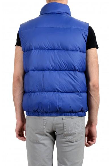 Versace Men's Blue Logo Full Zip Sleeveless Parka Vest: Picture 2
