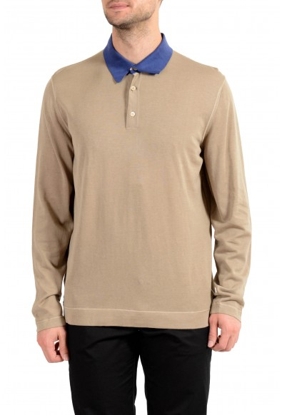 Malo Men's Brown Polo Style Pullover Sweater