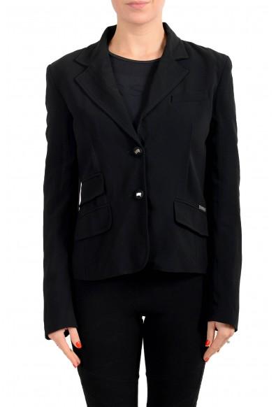 John Galliano Women's Black Two Button Blazer Jacket