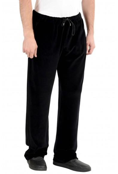 Versace Men's Black Velour Track Sweat Pants: Picture 2