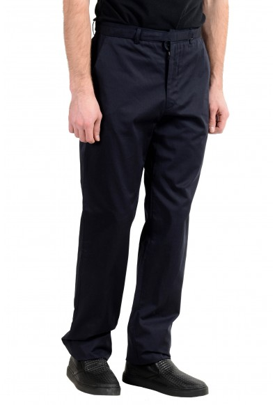 Exte Men's Dark Blue Belted Casual Cargo Pants : Picture 2