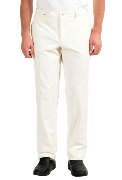 Versace Collection Men's White Dress Stretch Pants