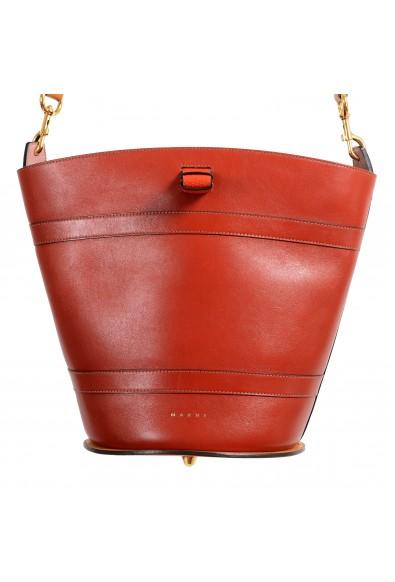 Marni Women's Multi-Color Leather Bucket Shoulder Bag Handbag: Picture 2