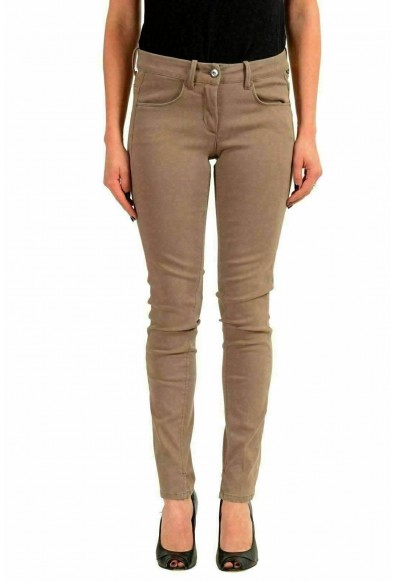 Moncler Women's Gray Stretch Skinny Casual Pants