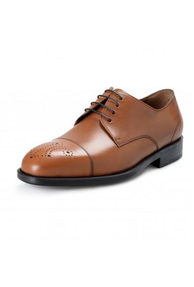 """Salvatore Ferragamo """"Aramix 1 cm"""" Men's Brown Leather Lace Up Oxfords Shoes"""
