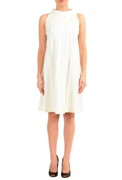 Maison Margiela White Graphic Sleeveless Women's Sheath Dress