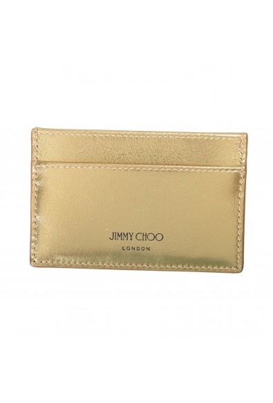 """Jimmy Choo Women's Gold Leather """"Athini"""" Card Holder"""
