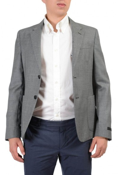 Prada Wool Silk Gray Two Buttons Men's Blazer: Picture 2