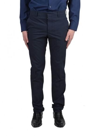 Prada Navy Flat Front Men's Casual Pants