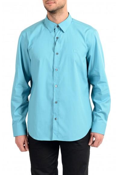 "Burberry Men's ""CAMBRIDGE"" Aqua Blue Long Sleeve Shirt"