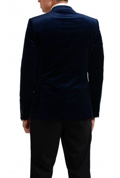 Versace Collection Navy Two Button Men's Velour Blazer : Picture 2