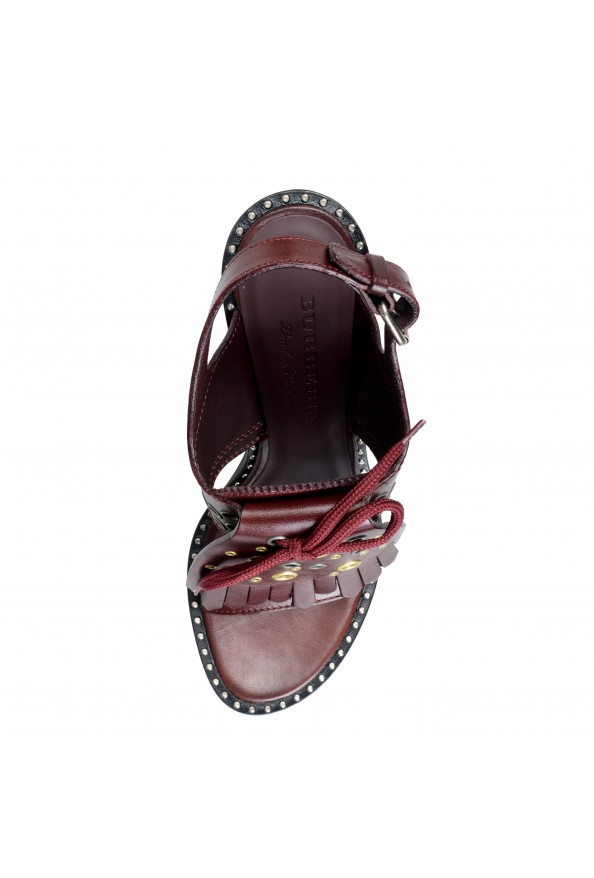 Burberry London Women's Beverley Leather Ankle Strap Heeled Sandals Shoes: Picture 8