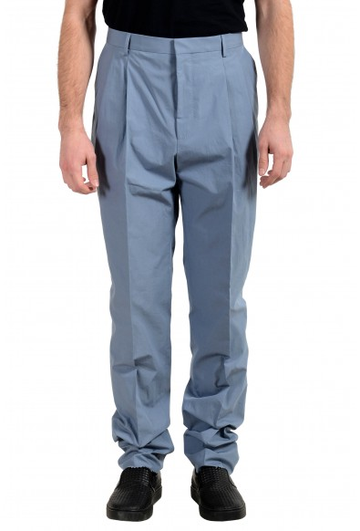 """Hugo Boss """"Orville"""" Men's Gray Relaxed Fit Pleated Casual Pants"""